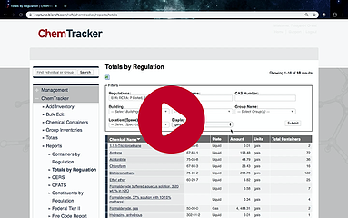 ChemTracker Screen Shot with Play Button